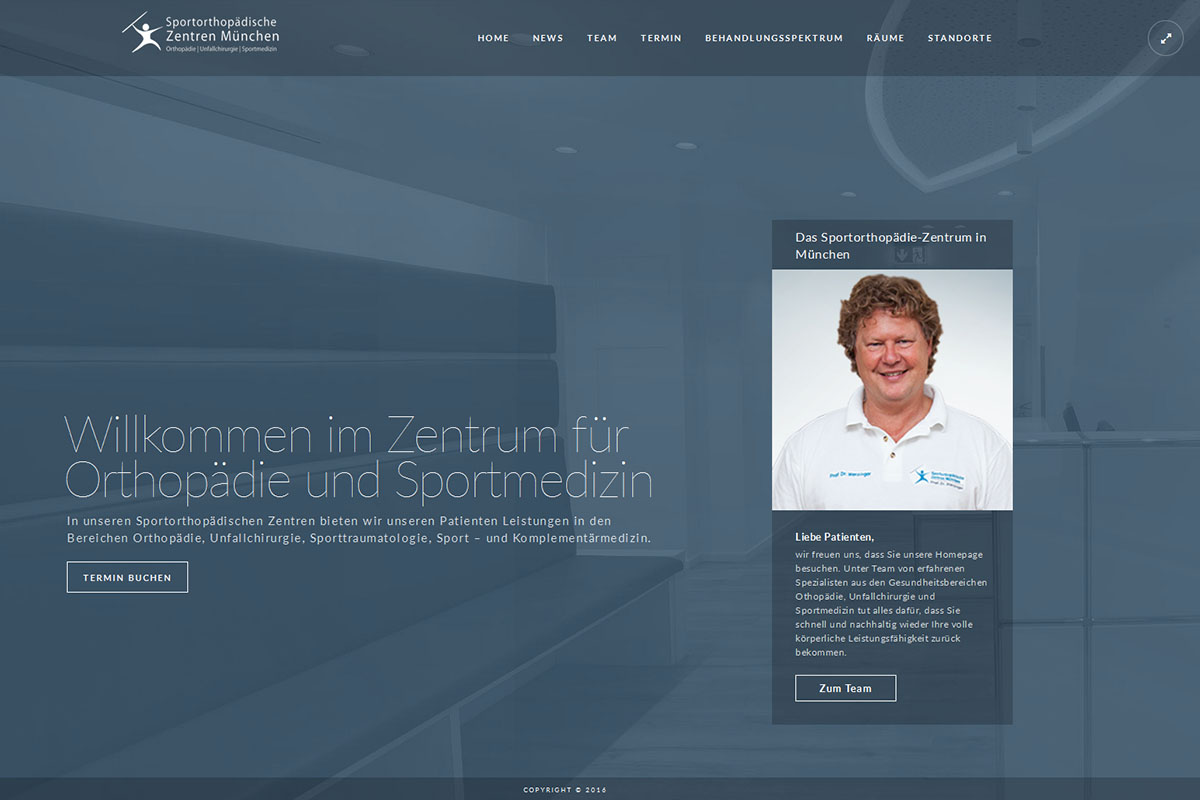 Neue Website für die Praxen von Prof. Dr. Werzinger